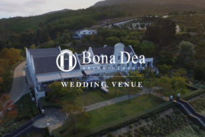 BONA DEA WEDDING VENUE DRONE